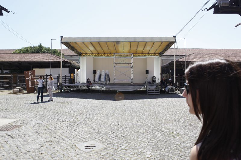 Stage for the performance at ex mattatoio Macro Testaccio
