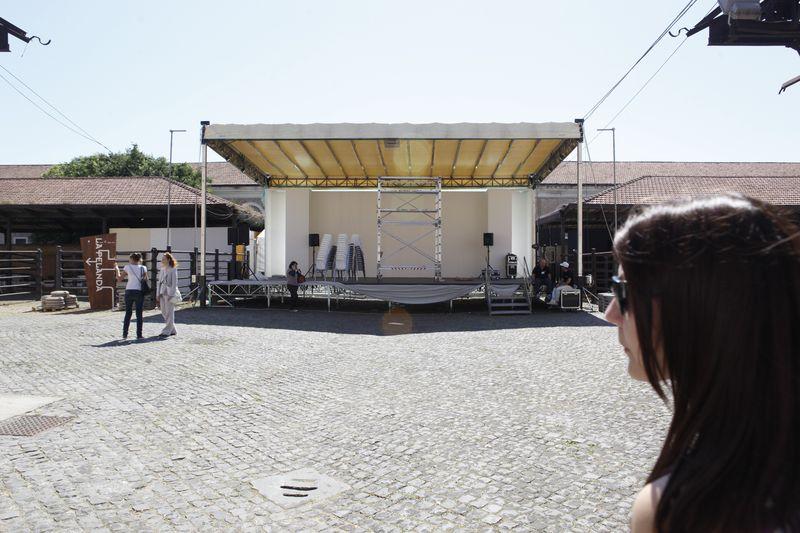 Stage for the performance at ex mattatoio Macro Testaccio